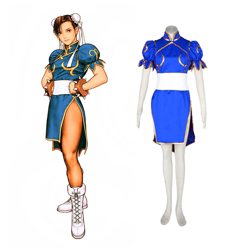 Street Fighter Chun-Li 1 Blue Cosplay Costumes South Africa