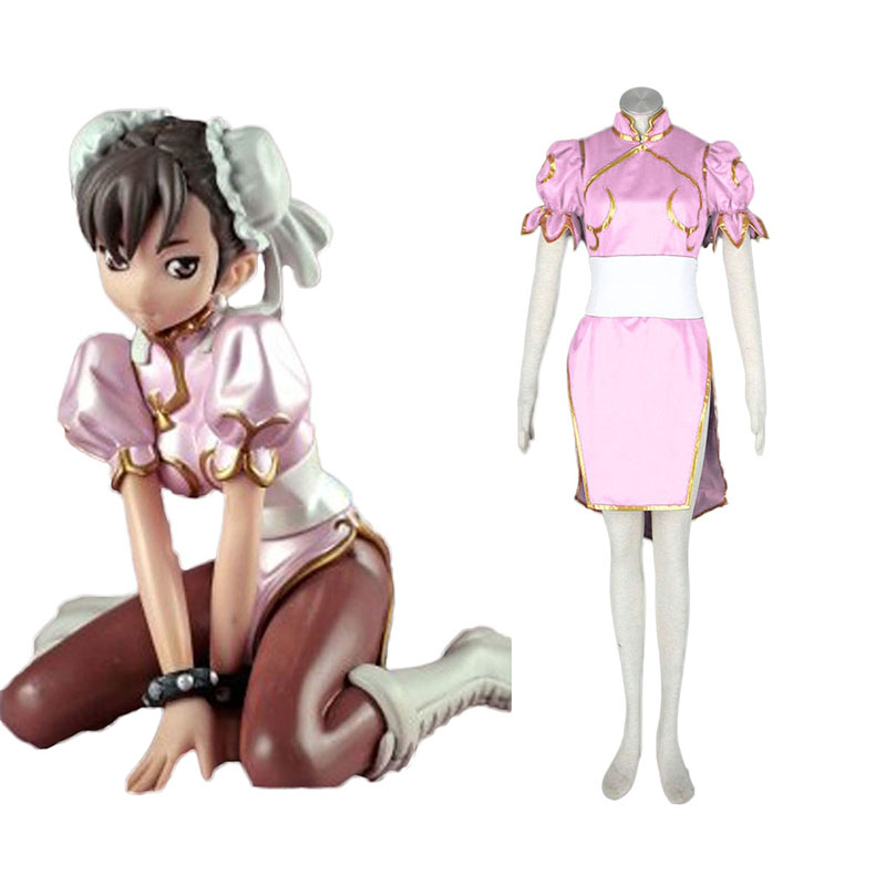 Street Fighter Chun- Li 3 Pink Cosplay Costumes South Africa