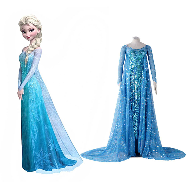 Frozen Elsa 1 Blue Cosplay Costumes South Africa