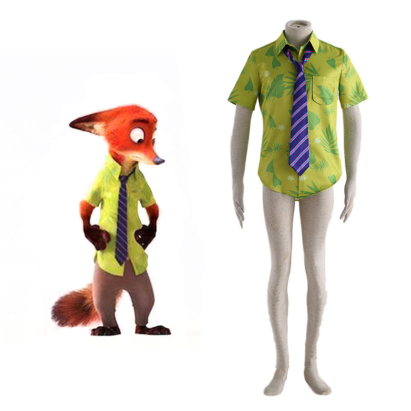 Zootopia Nick Shirt Cosplay Costumes South Africa