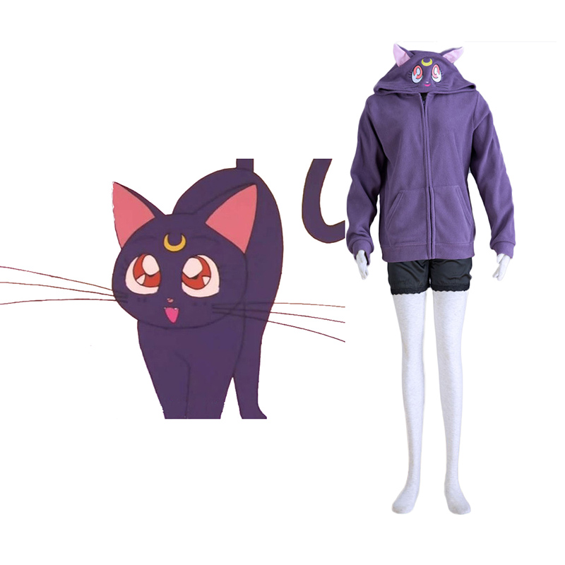 Sailor Moon Black Cat Luna Cosplay Costumes South Africa