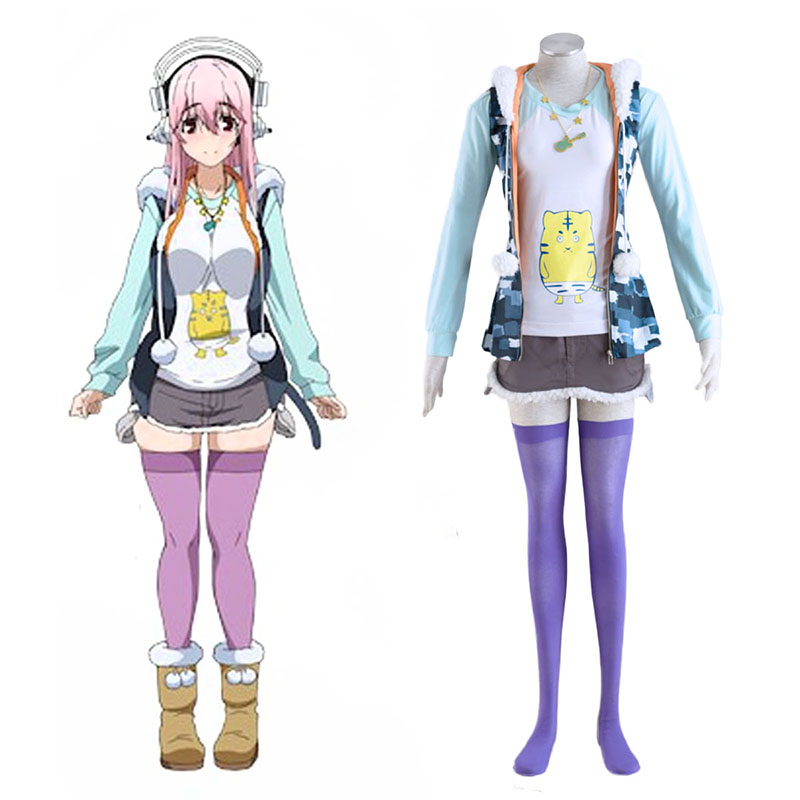Soni-Ani:Super Sonico the Animation Super Sonico 1 Cosplay Costumes South Africa