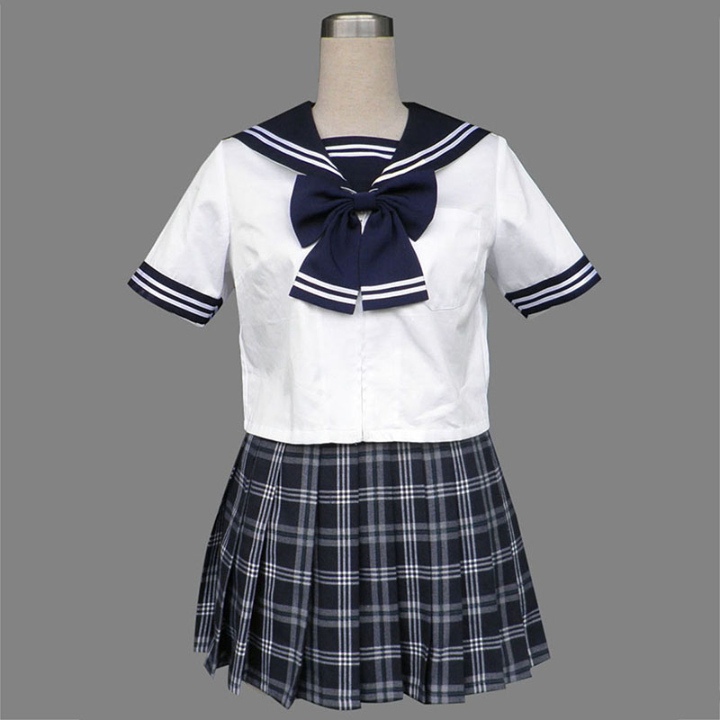 Sailor Uniform 5 Black Grid Cosplay Costumes South Africa