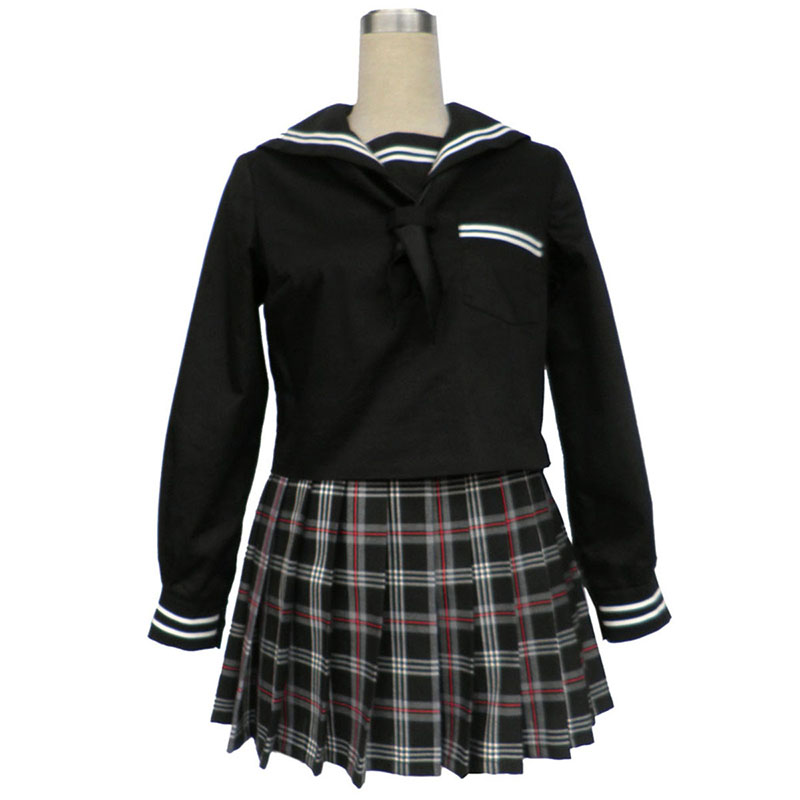 Sailor Uniform 7 Red Black Grid Cosplay Costumes South Africa