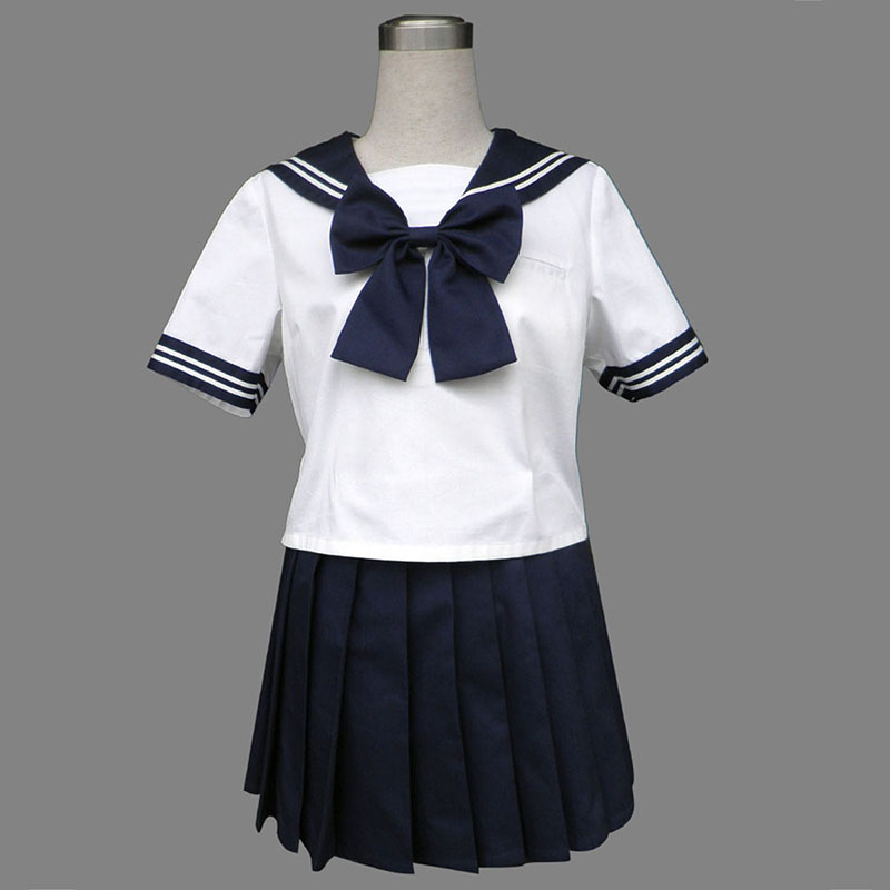 Royal Blue Short Sleeves Sailor Uniform 8 Cosplay Costumes South Africa