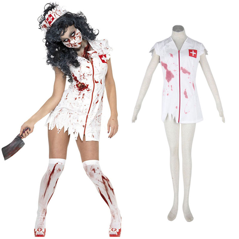 Halloween Culture Zombie Burst Blood Nurses 1 Cosplay Costumes South Africa