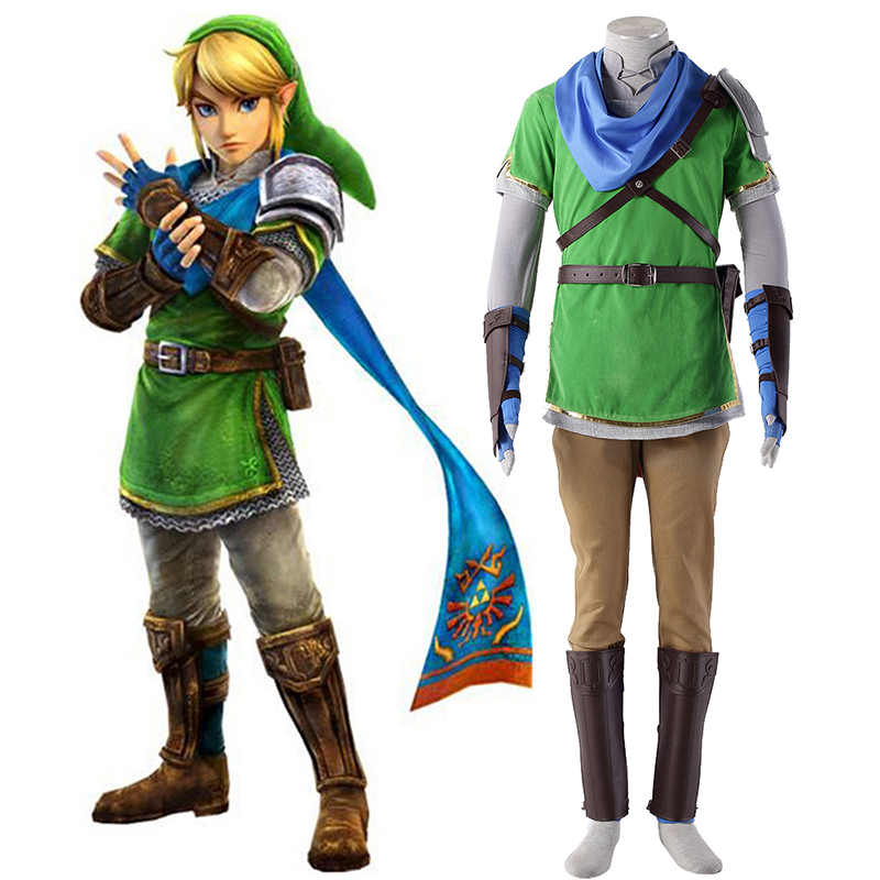 The Legend of Zelda Hyrule-Warriors Link 5 Cosplay Costumes South Africa