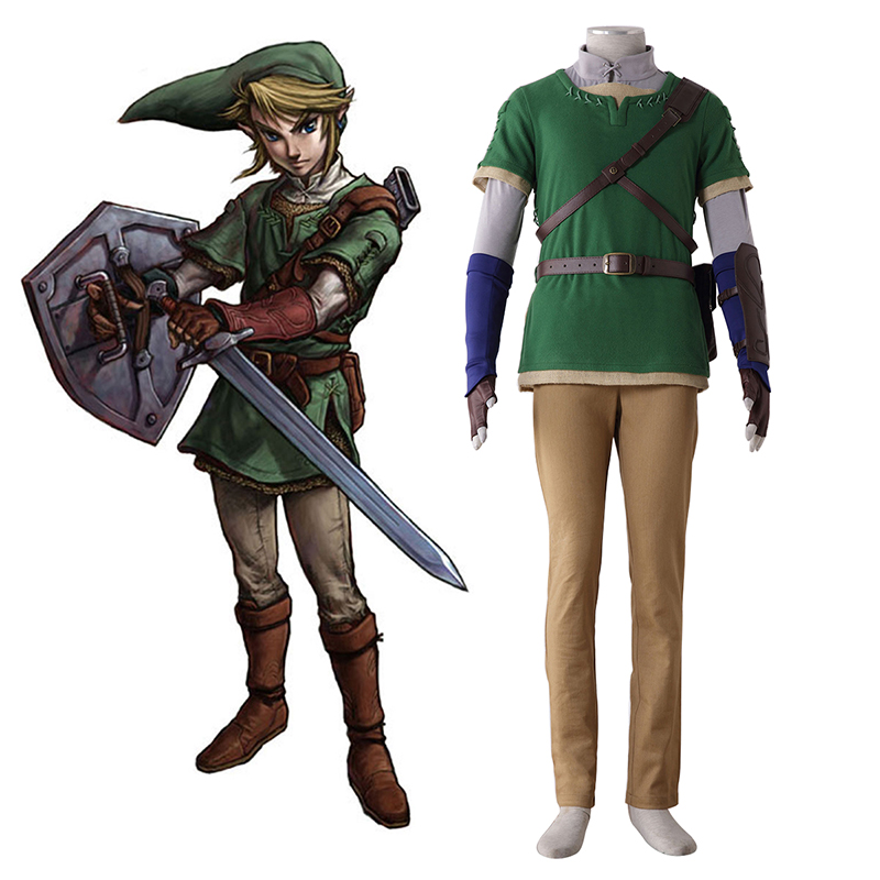The Legend of Zelda Twilight Princess Link 4 Cosplay Costumes South Africa