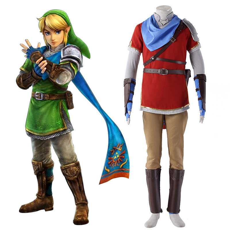 The Legend of Zelda Hyrule-Warriors Link 6 Red Cosplay Costumes South Africa