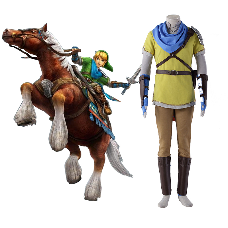 The Legend of Zelda Hyrule-Warriors Link 7 Yellow Cosplay Costumes South Africa