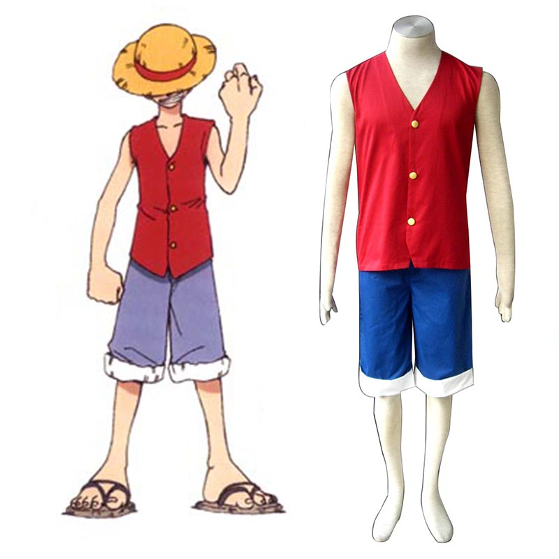 One Piece Monkey D. Luffy 1 Red Cosplay Costumes South Africa