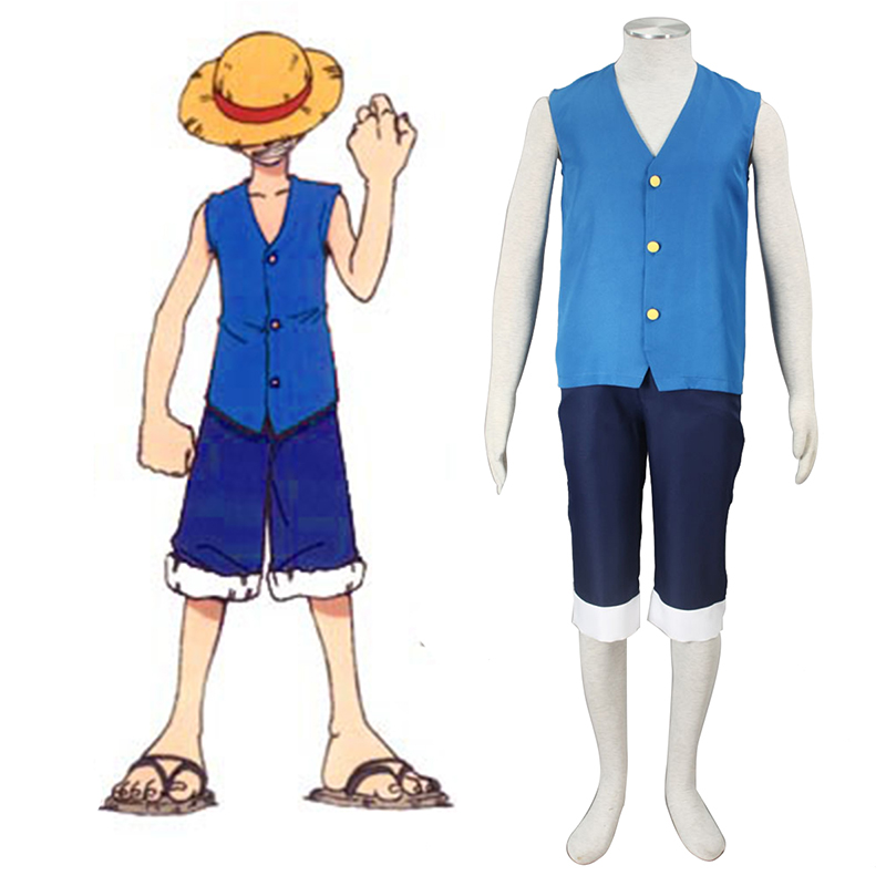 One Piece Monkey D. Luffy 2 Blue Cosplay Costumes South Africa