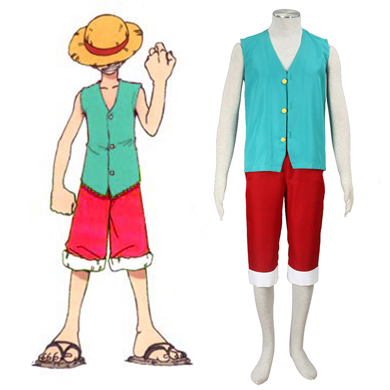 One Piece Monkey D. Luffy 3 Green Cosplay Costumes South Africa