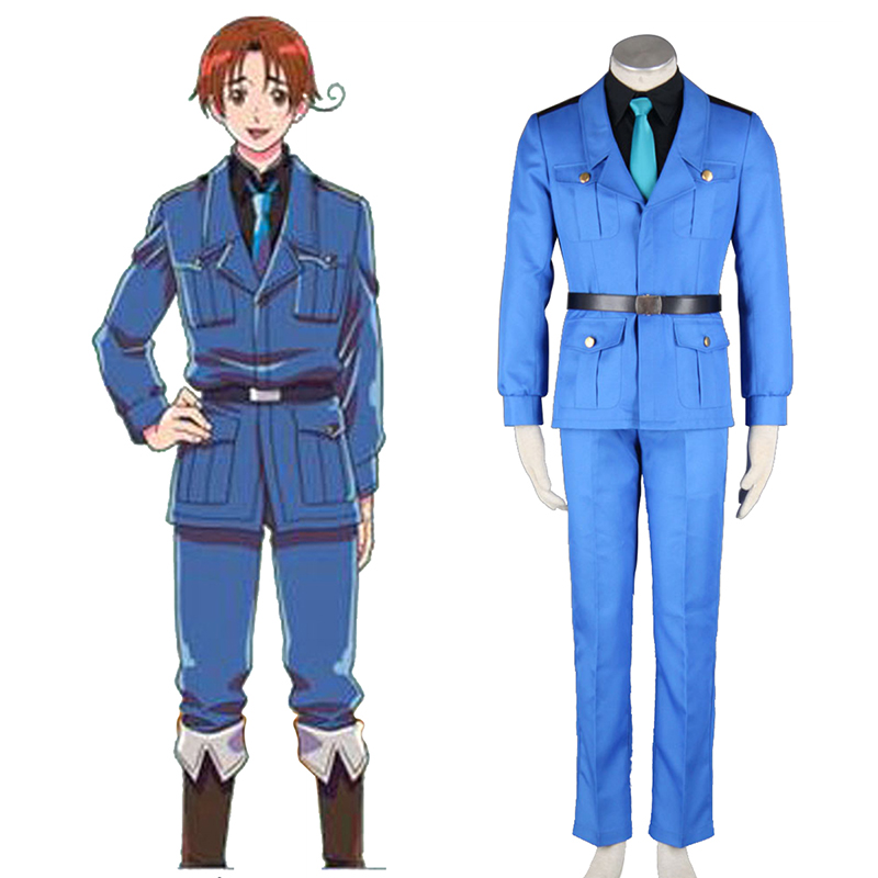 Axis Powers Hetalia APH North Italy Feliciano Vargas 3 Cosplay Costumes South Africa