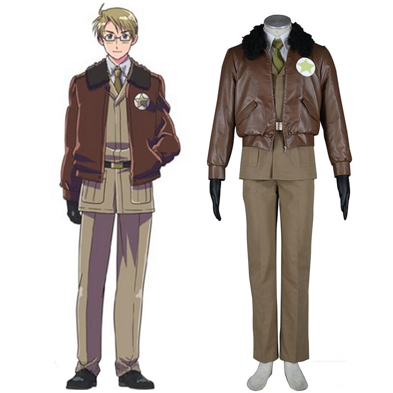 Axis Powers Hetalia APH America Alfred F Jones 1 Cosplay Costumes South Africa