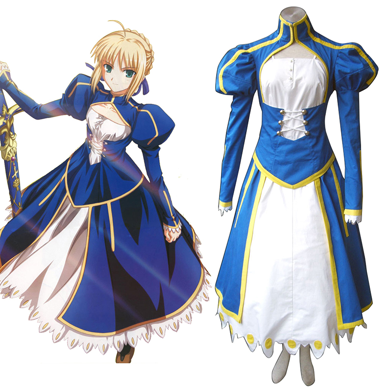 The Holy Grail War Saber 1 Blue Cosplay Costumes South Africa