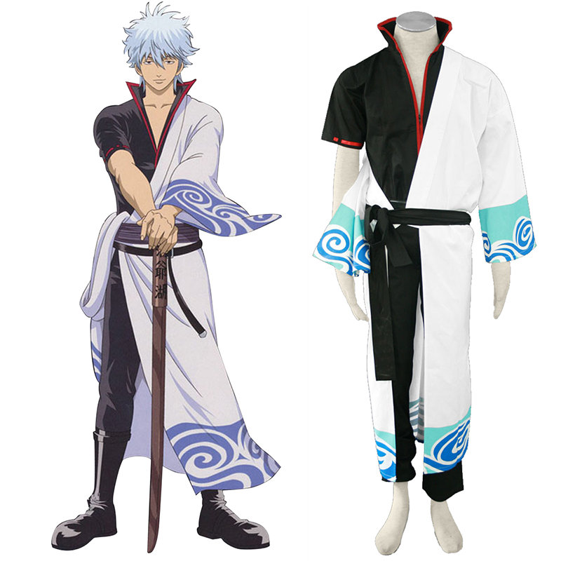 Gin Tama Sakata Gintoki 1 Black Belt Cosplay Costumes South Africa