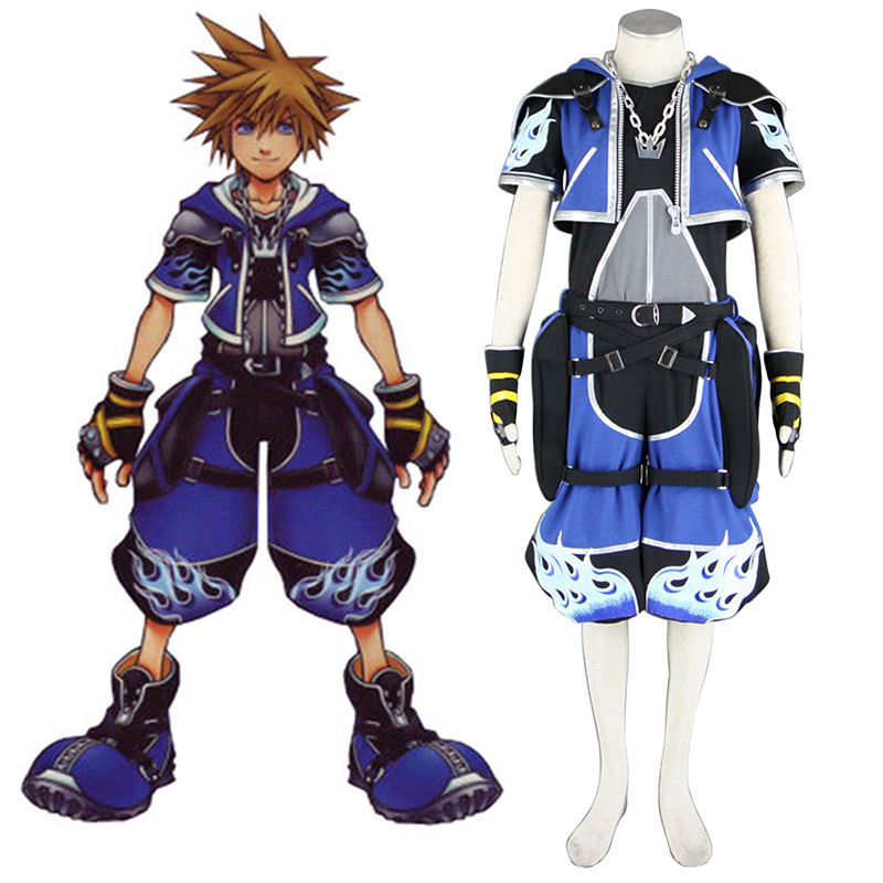 Kingdom Hearts Sora 2 Blue Cosplay Costumes South Africa