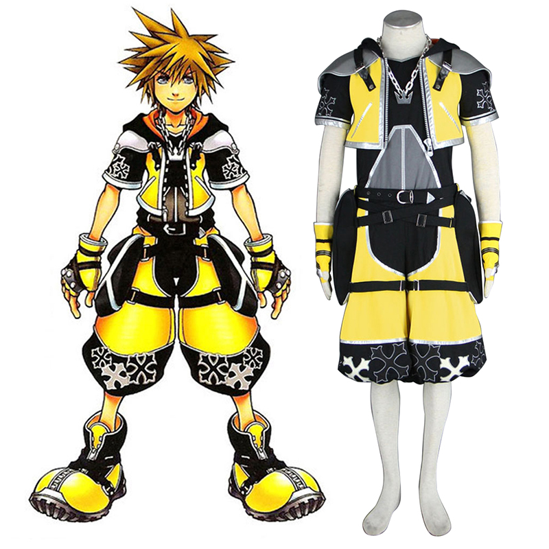 Kingdom Hearts Sora 3 Yellow Cosplay Costumes South Africa