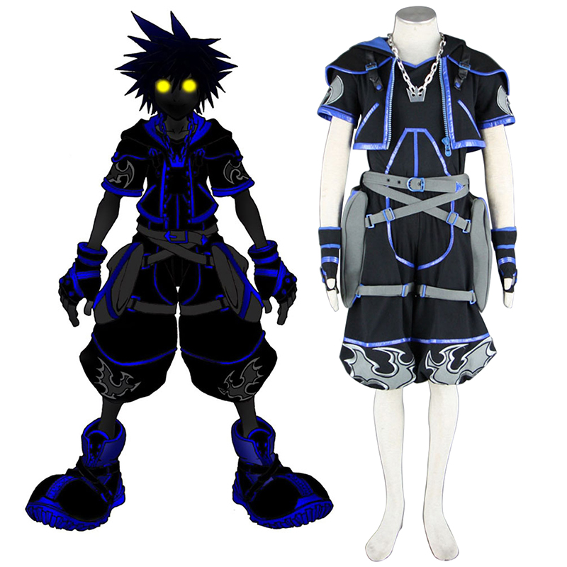 Kingdom Hearts Sora 4 Black Cosplay Costumes South Africa