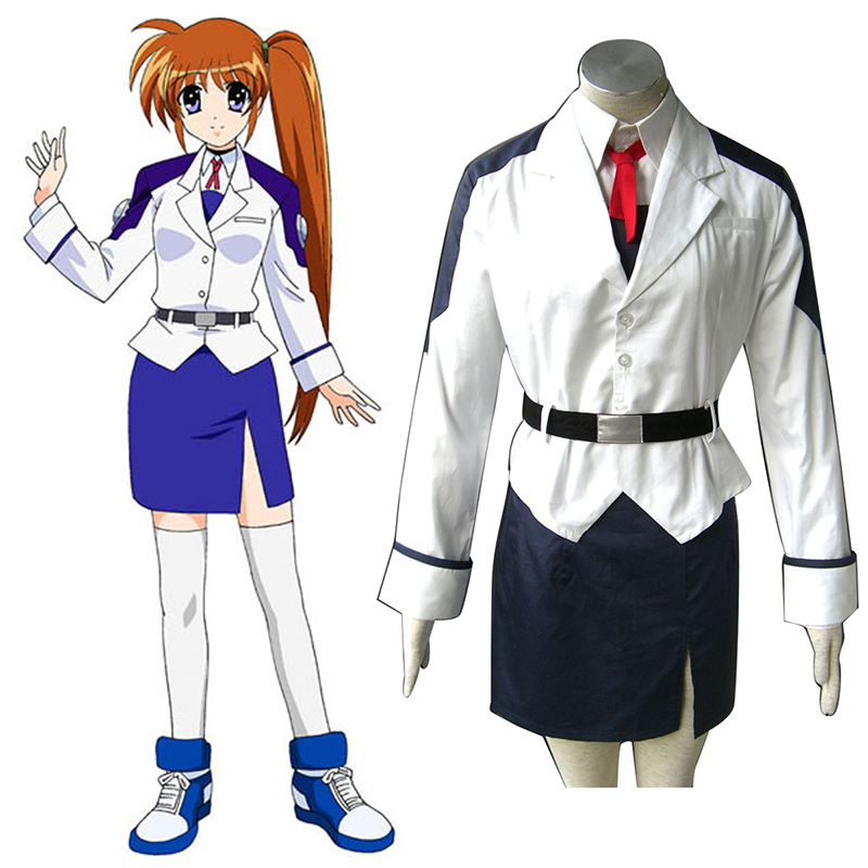 Magical Girl Lyrical Nanoha Nanoha Takamachi 1 white Cosplay Costumes South Africa