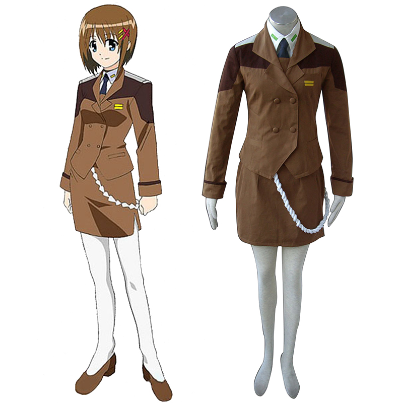 Magical Girl Lyrical Nanoha Female Military Uniform Cosplay Costumes South Africa