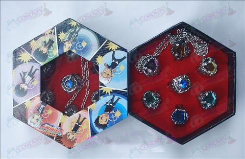 Reborn! Accessories-ring next chapter completely liberated version / Pengo - Ring Necklace Set