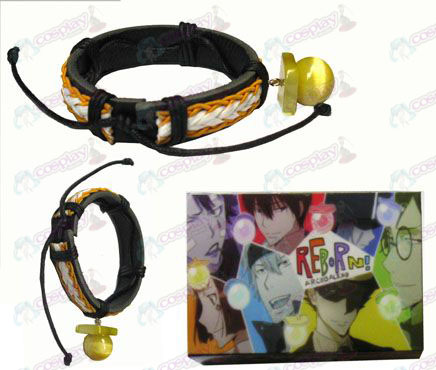 Tutoring yellow pacifier special edition leather strap