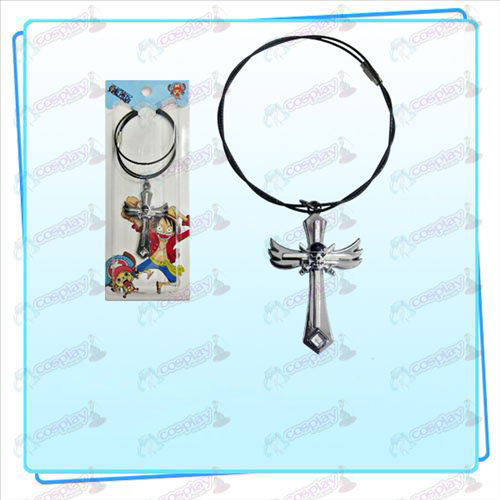 One Piece Accessories Sauron symbol wing cross wire chain