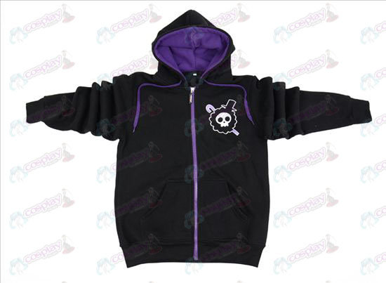 One Piece Accessories Brook black zipper hoodie sweater