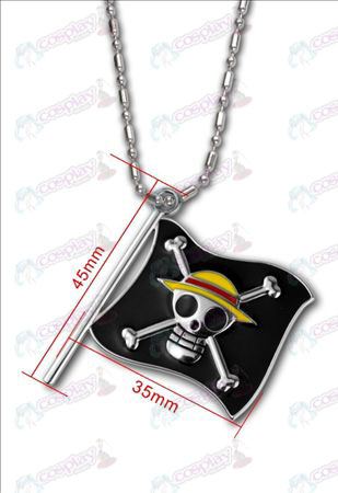 One Piece Accessories-Luffy pirate flag necklace