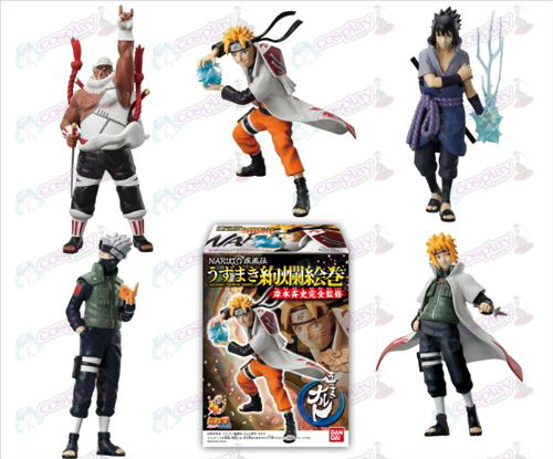 10 on behalf of five models Naruto base (15-17cm) Box (gorgeous Emaki articles)