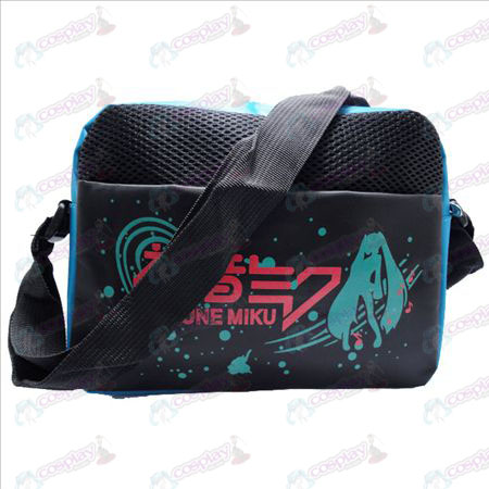 Hatsune flag blue nylon small satchel