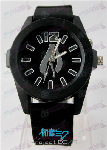 Hatsune colorful flashing lights Watch - Black