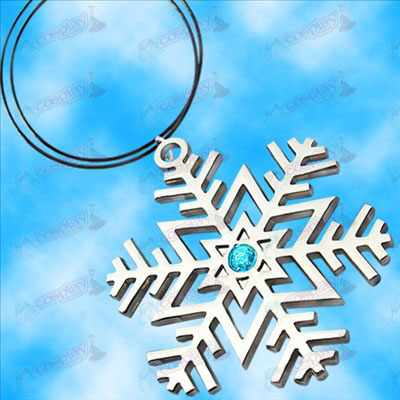 Hatsune snowflake symbol necklace (Blue Diamond)