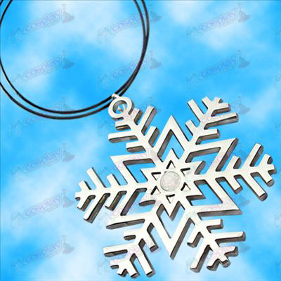 Hatsune snowflake symbol necklace (white diamonds)