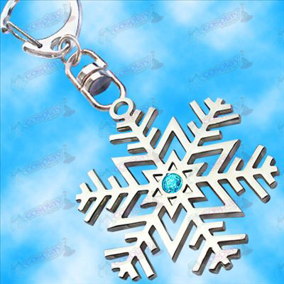 Hatsune snowflake flag hanging buckle (Blue Diamond)