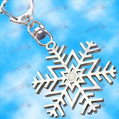 Hatsune snowflake flag hanging buckle (white diamonds)