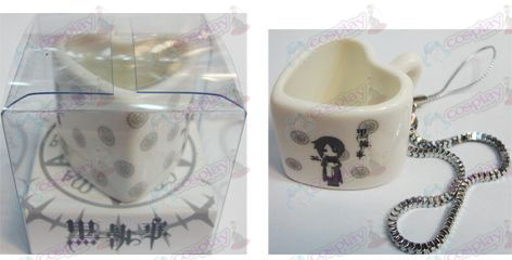 Black Butler Accessories Strap heart-shaped ceramic cup
