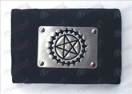 Black Butler Accessories White canvas wallet