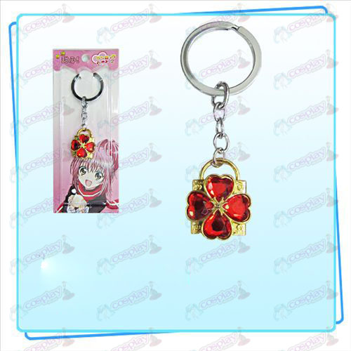 Shugo Chara! Accessories Lock key ring (golden locks red diamond)
