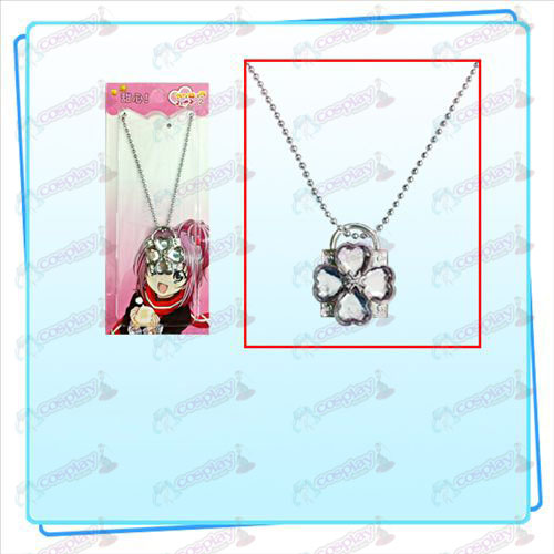 Shugo Chara! Accessories lock necklace (silver lock transparent diamond)