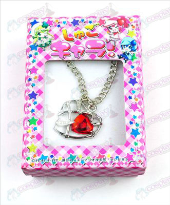 Shugo Chara! Accessories Heart Necklace (Red)