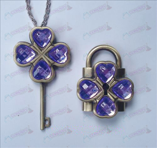 Shugo Chara! Accessories couple Lock Set (Purple)