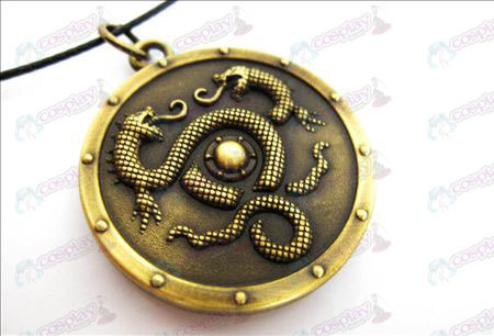 Final Fantasy Accessories too 14 swordsmen battle shield necklace