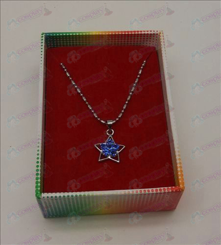 Lucky Star Accessories Diamond Necklace (Light Blue)