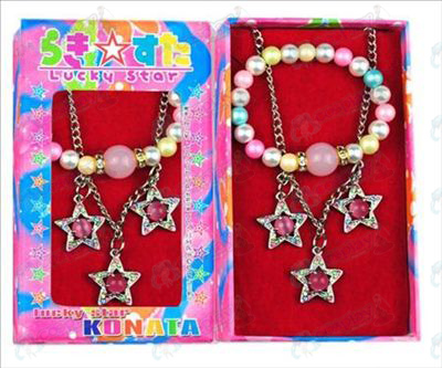 Lucky Star Accessories three pendant necklace + bracelet (box)