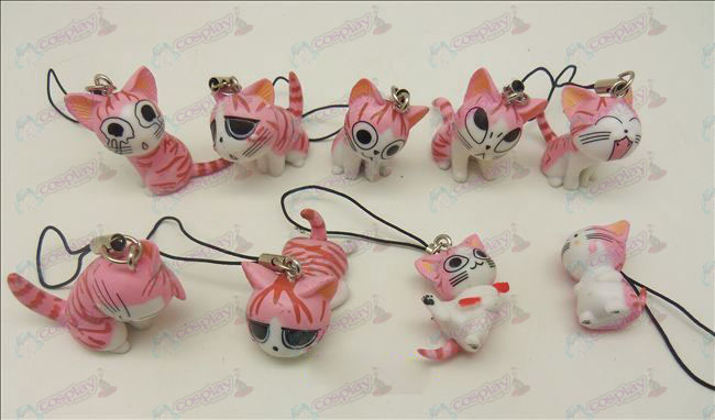 9 Sweet Cat Accessories Toy Machine Strap (Pink)