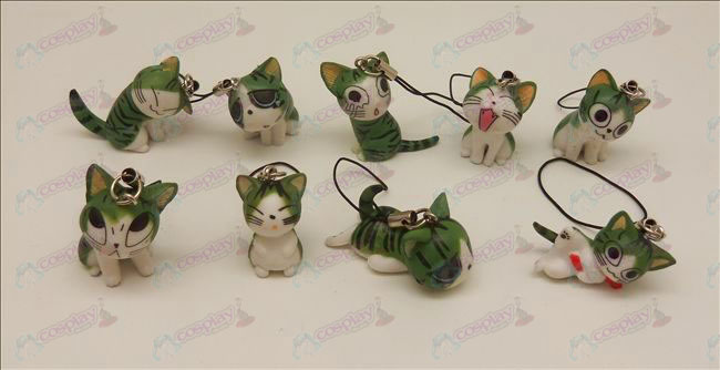 9 Sweet Cat Accessories Machine Strap (Green)