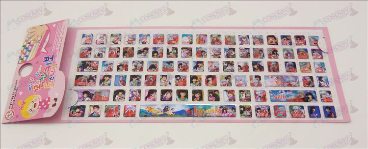 PVC keyboard stickers (InuYasha Accessories)